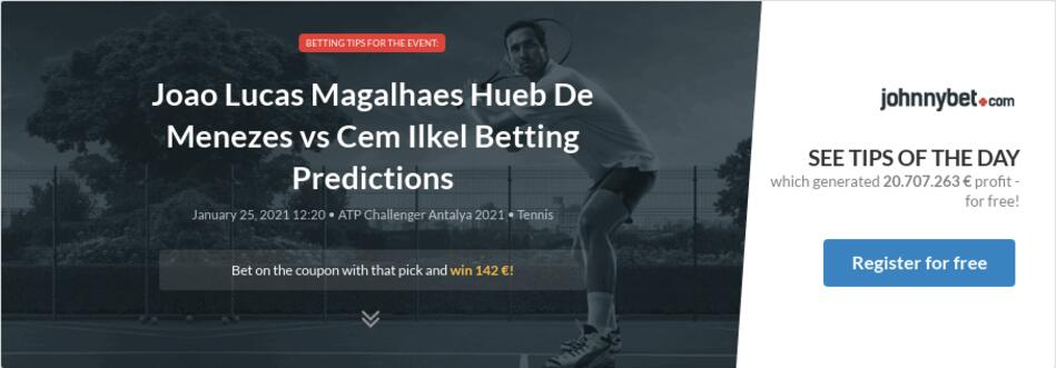 Joao Lucas Magalhaes Hueb De Menezes vs Cem Ilkel Betting Predictions