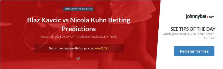 Blaz Kavcic vs Nicola Kuhn Betting Predictions