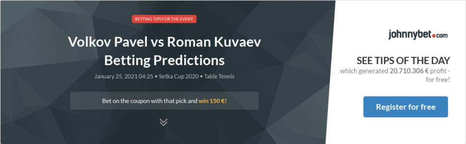 Volkov Pavel vs Roman Kuvaev Betting Predictions