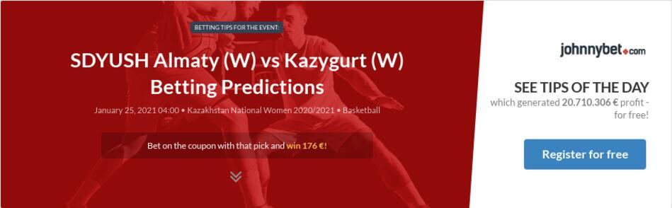 SDYUSH Almaty (W) vs Kazygurt (W) Betting Predictions
