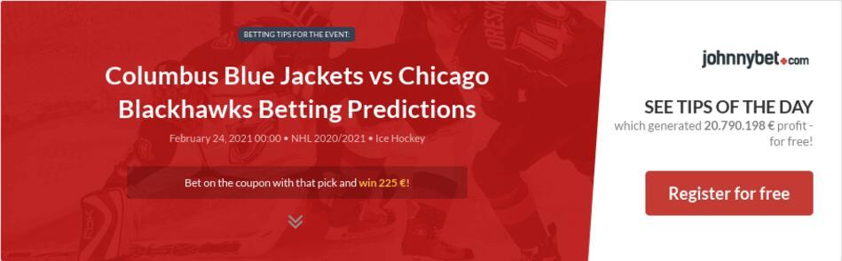 Columbus Blue Jackets vs Chicago Blackhawks Betting Predictions