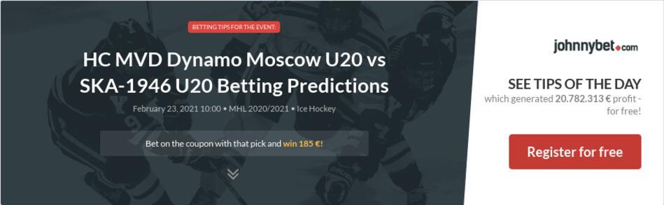 HC MVD Dynamo Moscow U20 vs SKA-1946 U20 Betting Predictions