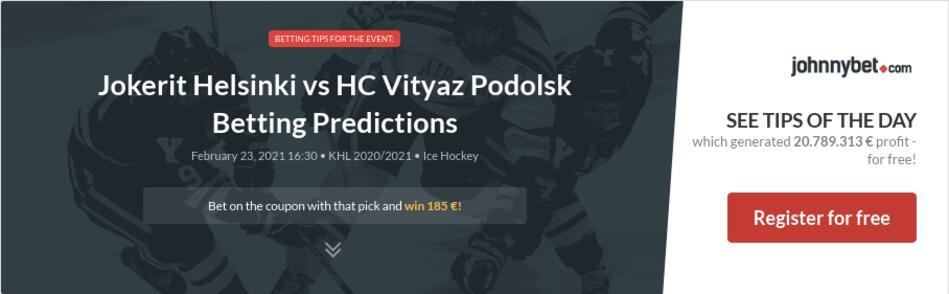 Jokerit Helsinki vs HC Vityaz Podolsk Betting Predictions