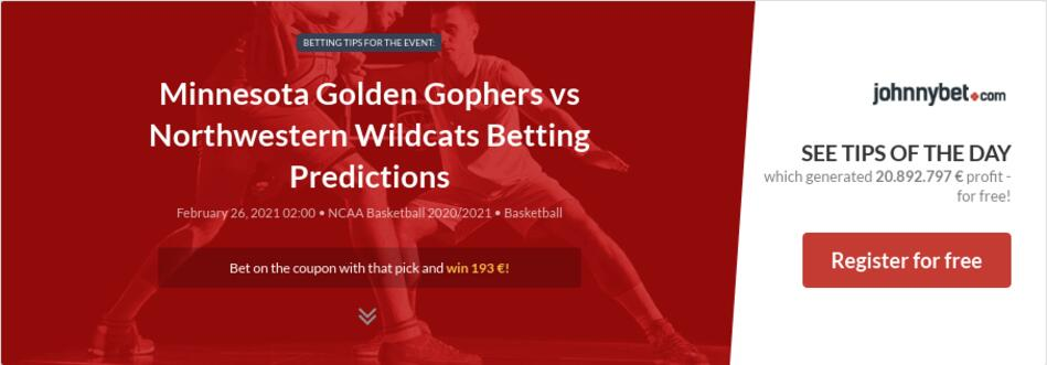 Minnesota Golden Gophers vs Northwestern Wildcats Betting Predictions