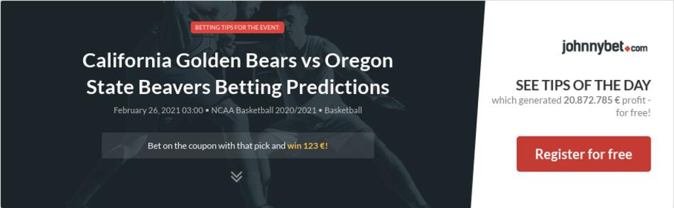 California Golden Bears vs Oregon State Beavers Betting Predictions