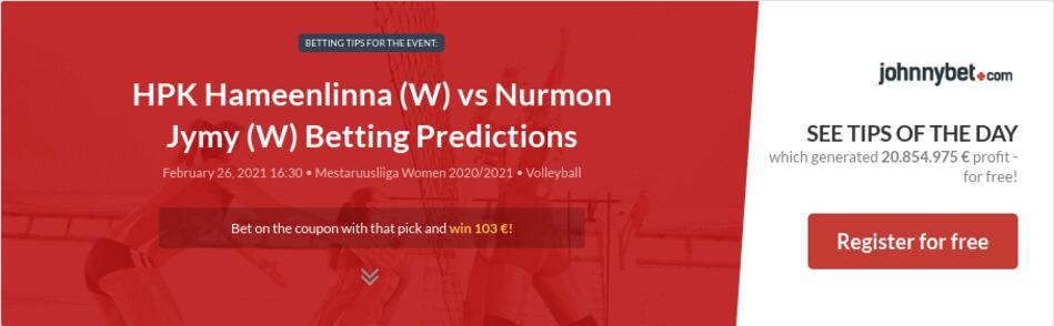 HPK Hameenlinna (W) vs Nurmon Jymy (W) Betting Predictions