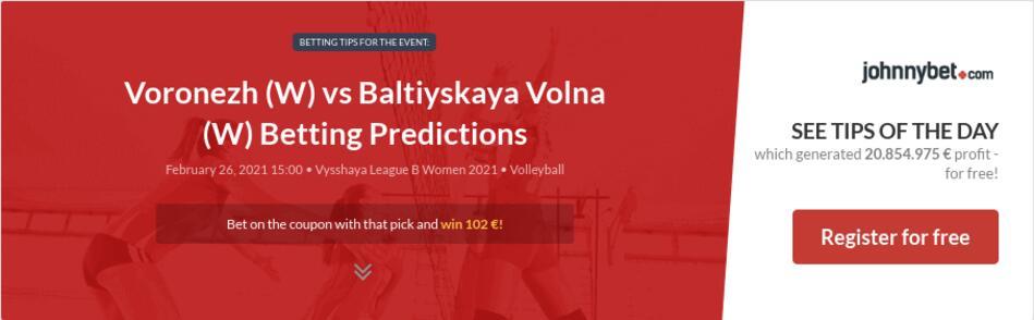 Voronezh (W) vs Baltiyskaya Volna (W) Betting Predictions
