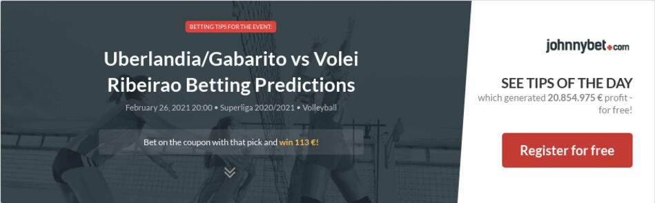 Uberlandia/Gabarito vs Volei Ribeirao Betting Predictions