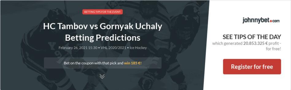 HC Tambov vs Gornyak Uchaly  Betting Predictions