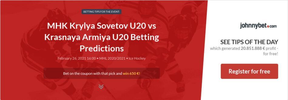 MHK Krylya Sovetov U20 vs Krasnaya Armiya U20 Betting Predictions