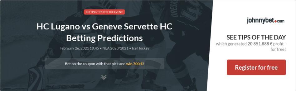 HC Lugano vs Geneve Servette HC Betting Predictions