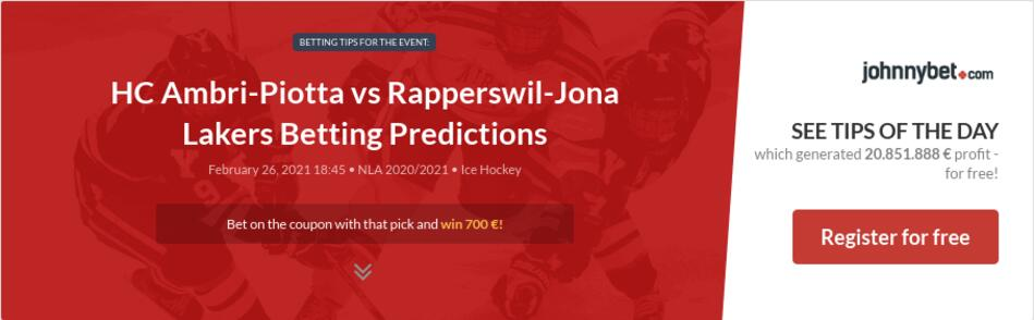 HC Ambri-Piotta vs Rapperswil-Jona Lakers Betting Predictions