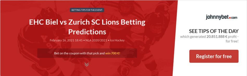 EHC Biel vs Zurich SC Lions Betting Predictions
