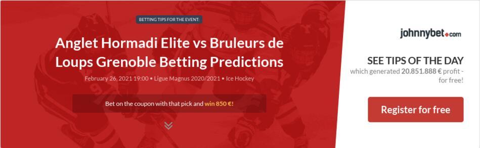 Anglet Hormadi Elite vs Bruleurs de Loups Grenoble Betting Predictions