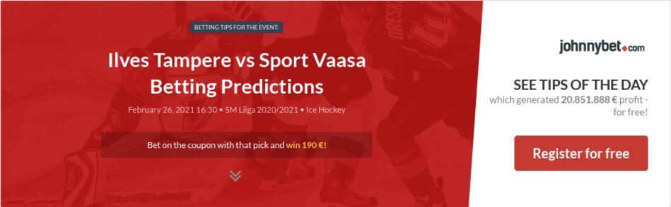Ilves Tampere vs Sport Vaasa Betting Predictions