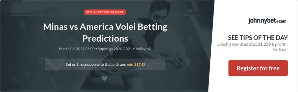 Minas vs America Volei  Betting Predictions