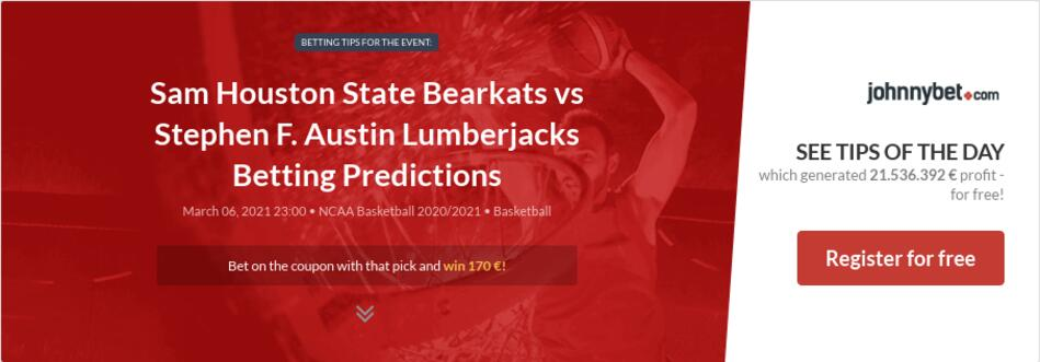 Sam Houston State Bearkats vs Stephen F. Austin Lumberjacks Betting Predictions
