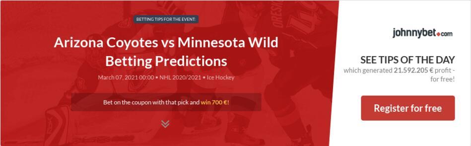 Arizona Coyotes vs Minnesota Wild Betting Predictions