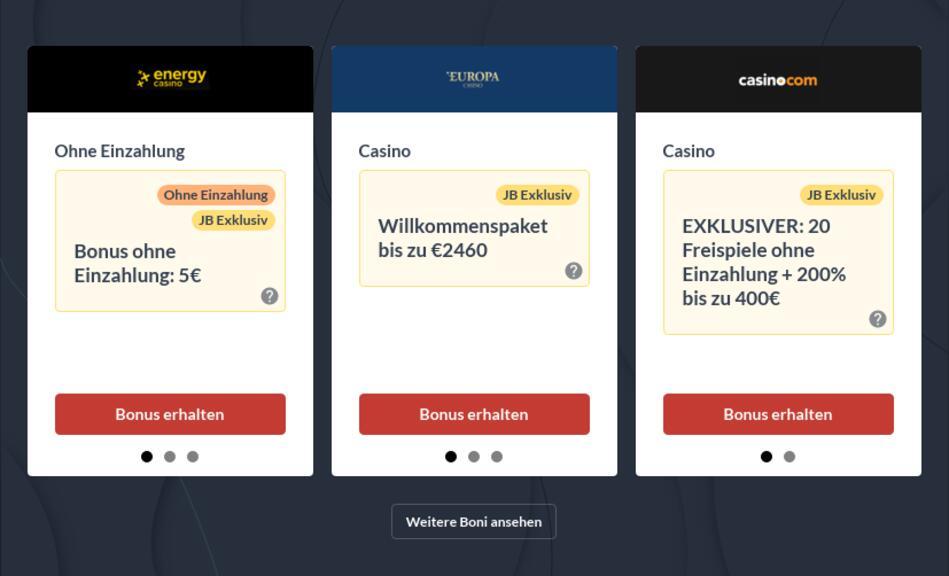 Online Casino mit Startguthaben