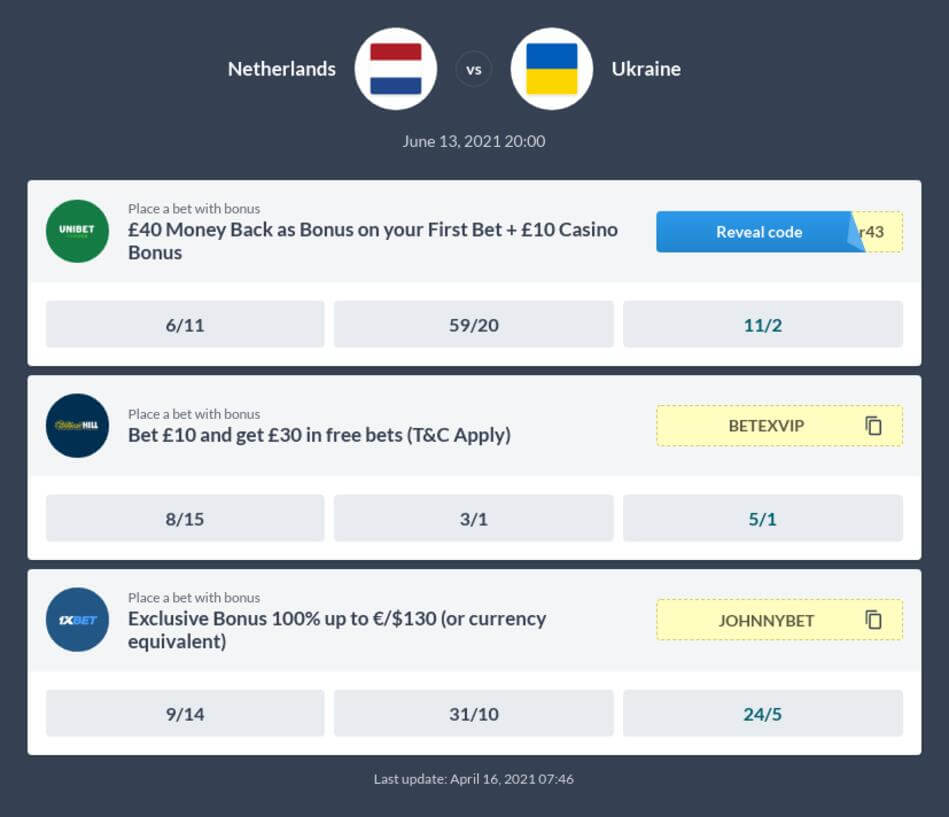 Netherlands vs Ukraine Betting Tips