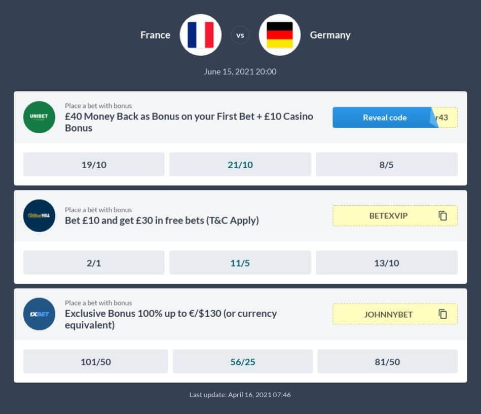 France vs Germany Betting Tips