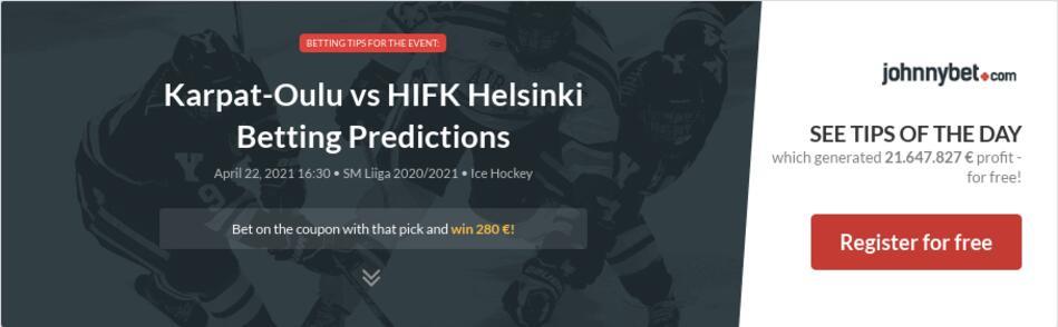 Karpat-Oulu vs HIFK Helsinki Betting Predictions