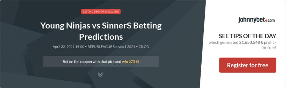 Young Ninjas vs SinnerS Betting Predictions