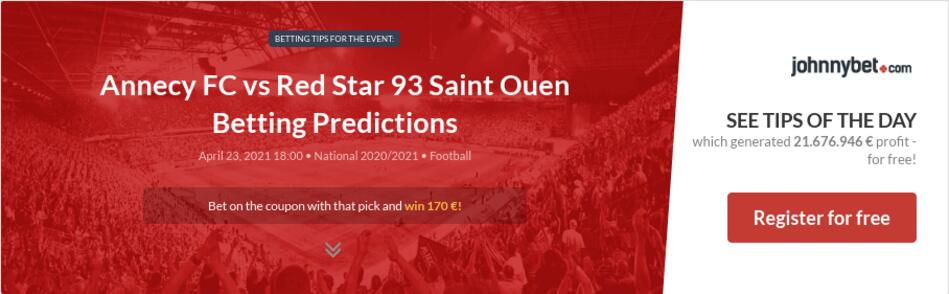 Annecy FC vs Red Star 93 Saint Ouen Betting Predictions