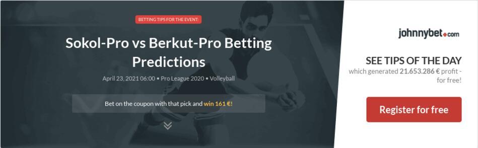 Sokol-Pro vs Berkut-Pro Betting Predictions