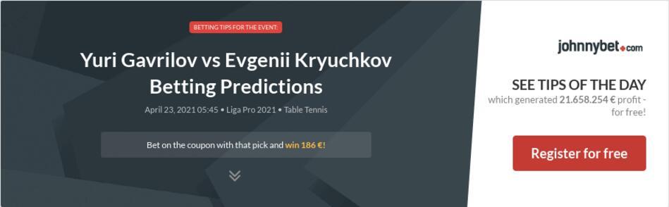 Yuri Gavrilov vs Evgenii Kryuchkov Betting Predictions
