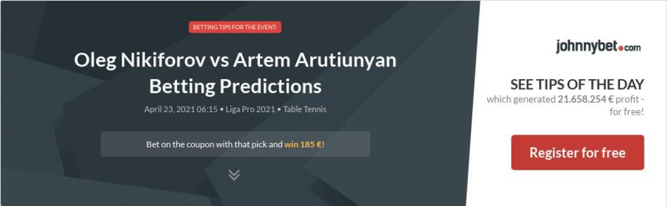 Oleg Nikiforov vs Artem Arutiunyan Betting Predictions