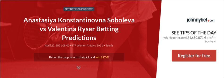 Anastasiya Konstantinovna Soboleva vs Valentina Ryser Betting Predictions
