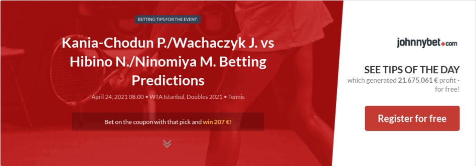 Kania-Chodun P./Wachaczyk J. vs Hibino N./Ninomiya M. Betting Predictions