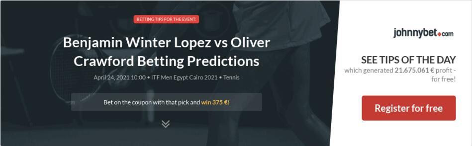 Benjamin Winter Lopez vs Oliver Crawford Betting Predictions