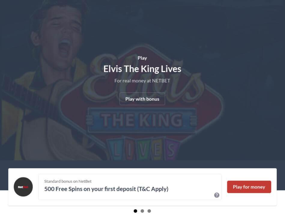 Elvis The King Lives Slot Machine