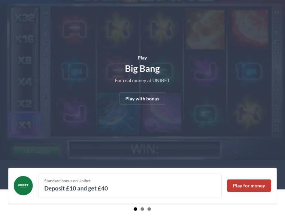 Big Bang Slot Machine