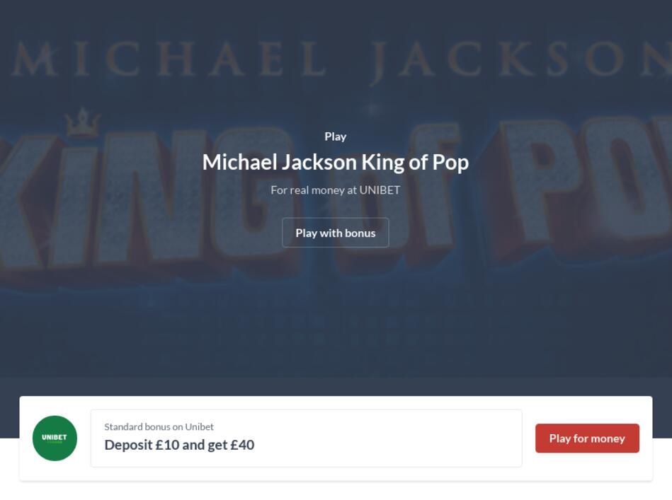Michael Jackson King of Pop Slot Machine Online