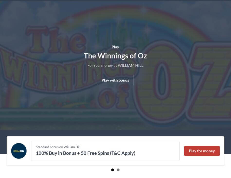Winnings of Oz Slot