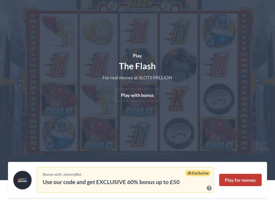 The Flash Slot Machine Online