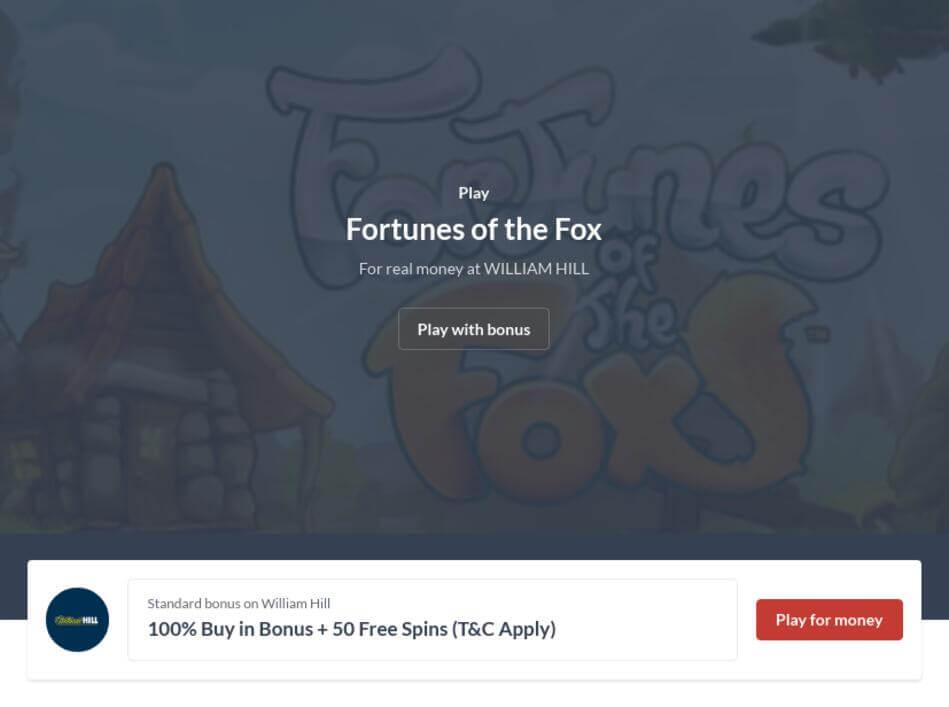 Fortunes of the Fox Slot Machine