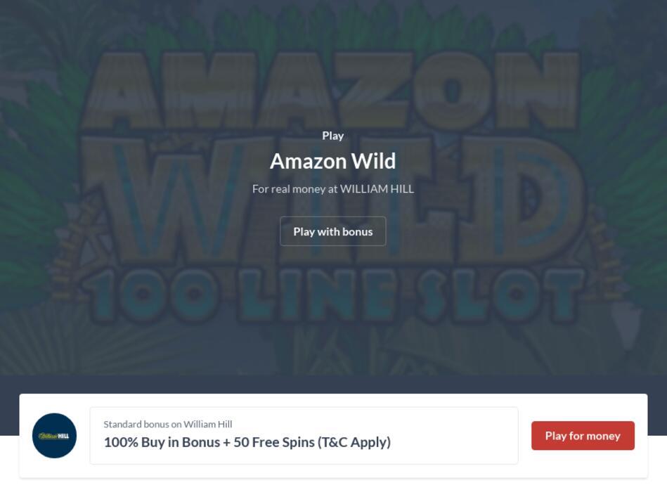 Amazon Wild Slot Machine