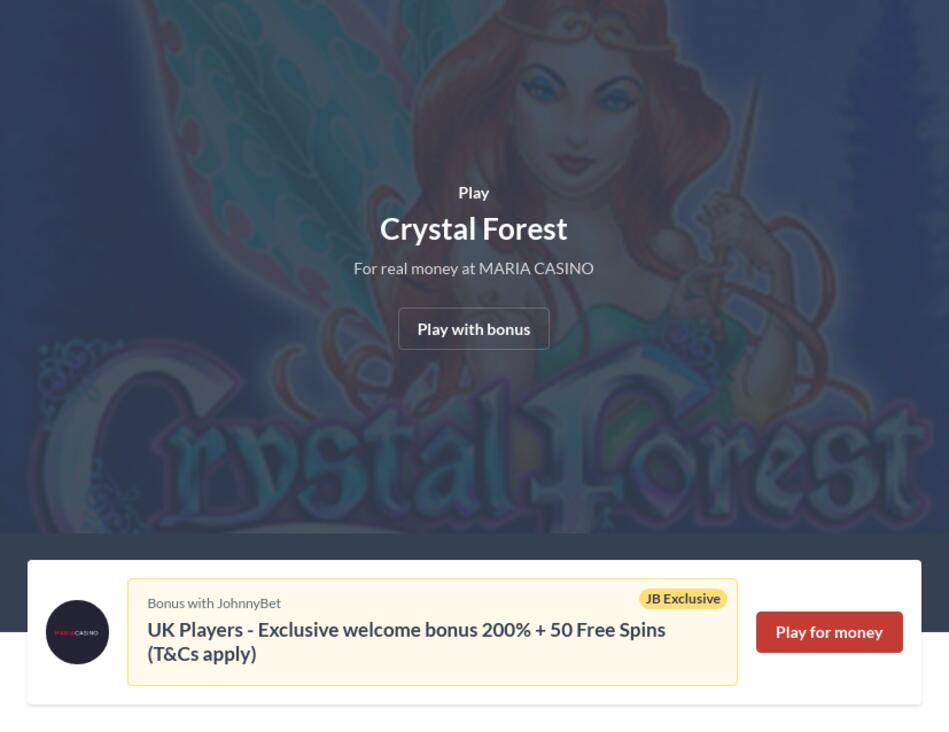 Play Crystal Forest Slot Machine Online