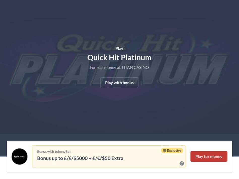 Quick Hit Platinum Slot Machine Download