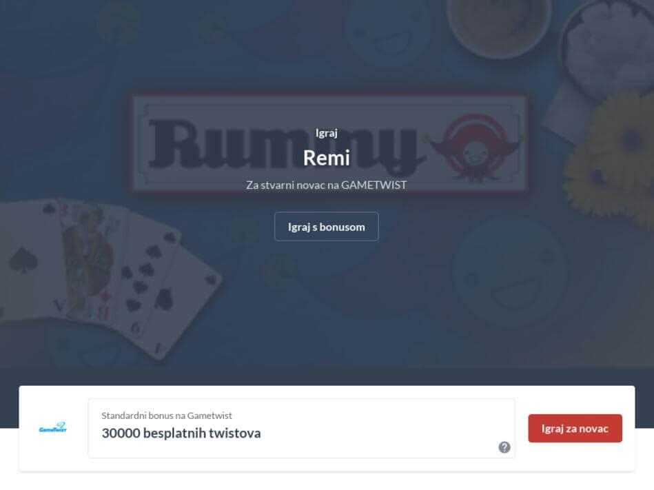 Remi Online - Besplatna kartaška igra
