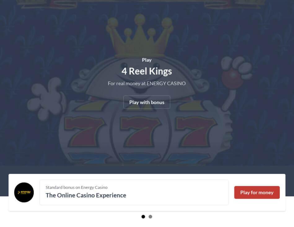 Play Free 4 Reel Kings Slot Machine Online