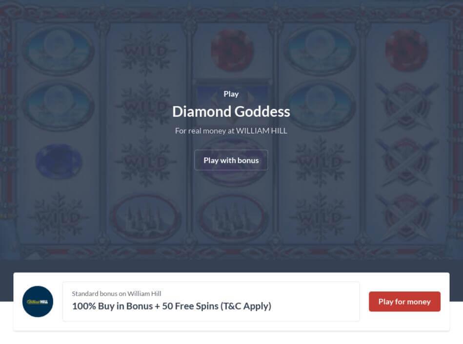 Diamond Goddess Slot Machine Online