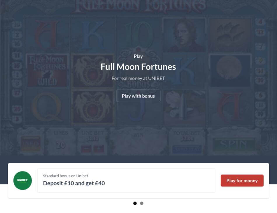 Play Full Moon Fortunes Slot For Real Money