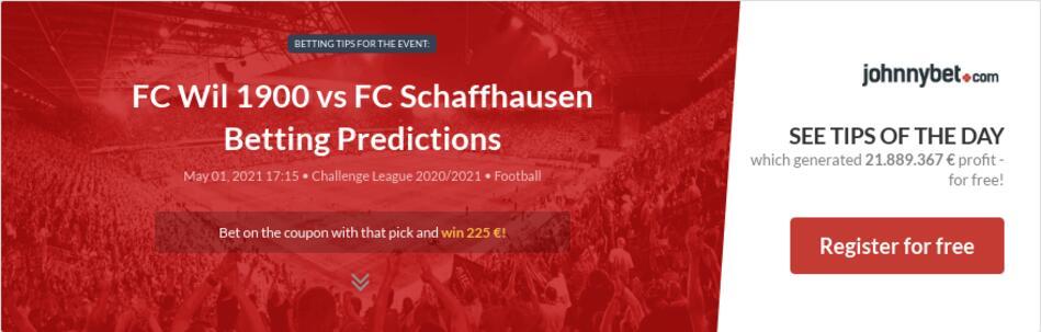 FC Wil 1900 vs FC Schaffhausen Betting Predictions