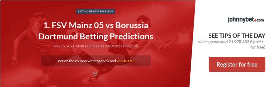 1. FSV Mainz 05 vs Borussia Dortmund Betting Predictions