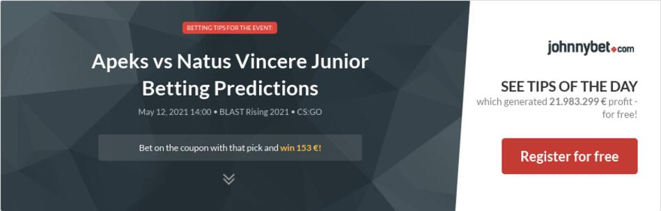 Apeks vs Natus Vincere Junior Betting Predictions